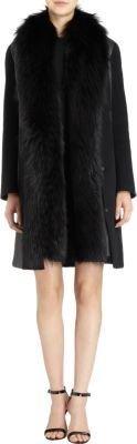 J. Mendel Detachable Fur Vest Coat