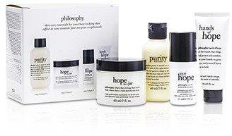 Philosophy Hope for the Best Coffret: Cleasner 60ml/2oz + Mositurizer 60ml/2oz + Eye Cream 15ml/0.5oz + Hand Cream 30ml/1oz 4pcs