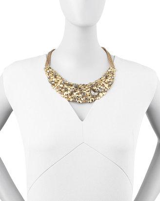 Alexis Bittar Large Flex Pyrite Bib Necklace