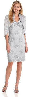 Adrianna Papell Women's Twisted-Lace Dress With Jacket