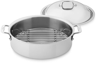 All-Clad Tri-Ply Stainless-Steel 6-Qt. Braiser with Rack