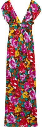 T-Bags Floral-print jersey maxi dress