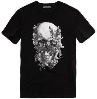 Alexander McQueen X-Ray Floral Skull T-shirt