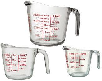 Anchor Hocking 3 Piece Open Handle Measuring Cup Set