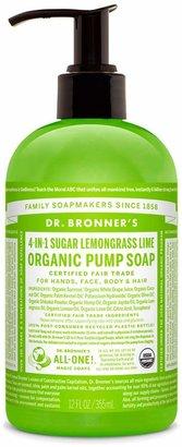 Dr. Bronner's Sugar Lemongrass Lime Organic Pump Soap by 12oz Liquid Soap)