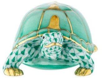 Herend Box Turtle Figurine w/ Tags