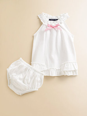 Lili Gaufrette Infant's Ruffled Cotton Jumper & Bloomers Set