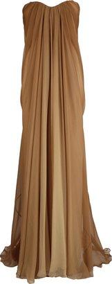 Alexander McQueen Strapless Ombre-Chiffon Gown