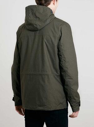 Topman Khaki Hooded Trek Jacket