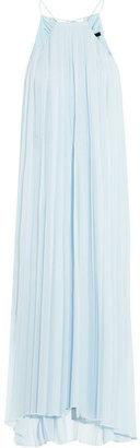 Tibi Pleated silk-georgette dress