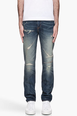 Levi's faded and destressed 511 Slim Jeans
