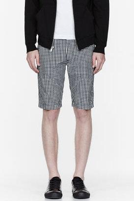 Diesel Black gingham check Chi-Tight-Sho shorts