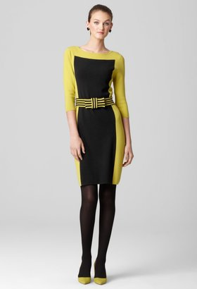 Milly Intarsia Shift With Bow Belt