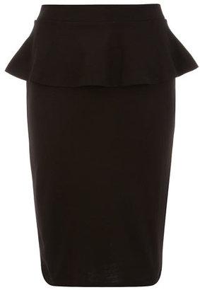Dorothy Perkins Black frill peplum skirt