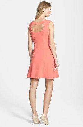 Rachel Roy Cutout Back Fit & Flare Dress