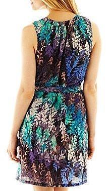 JCPenney Fynn & Rose Split-Neck Dress - Petite