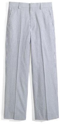 Nordstrom 'Phillip' Seersucker Trousers (Little Boys & Big Boys) Blue Stripe 20