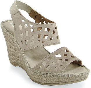 Andre Assous Denise - Cut Out Slingback Wedge Espadrille in Taupe