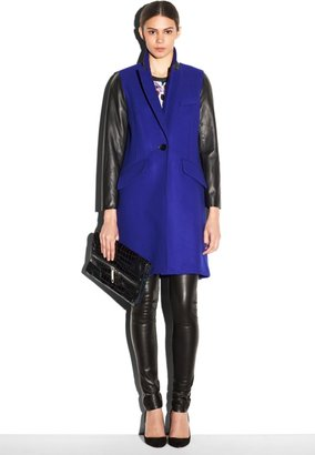 Milly Leather Sleeved Man's Coat