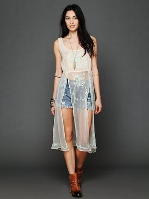 Free People Simply Sheer Embroidered Maxi