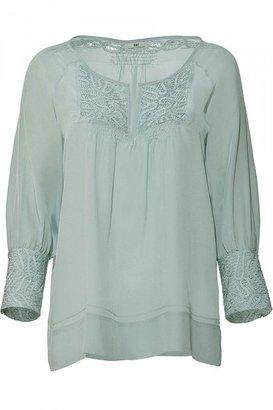 DAY Birger et Mikkelsen Menthe Embroidered Silk Tunic-Top
