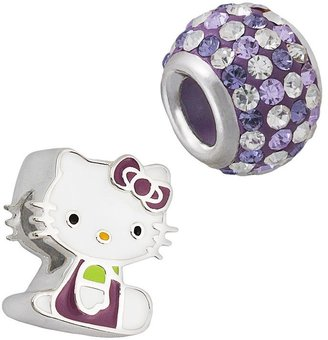 Hello Kitty® Sterling Silver Crystal Bead Set $100 thestylecure.com