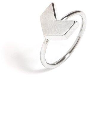 BaubleBar Silver Chevron Midi Ring