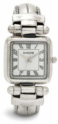 Chico's Chicos Silver Ox Cuff Watch