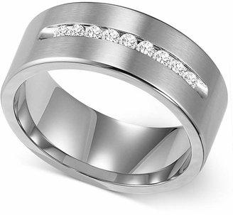Triton Men's Channel-Set Diamond Wedding Band in Cobalt (1/4 ct. t.w.)
