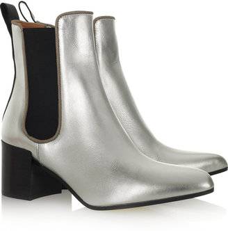 Acne Free metallic-leather ankle boots