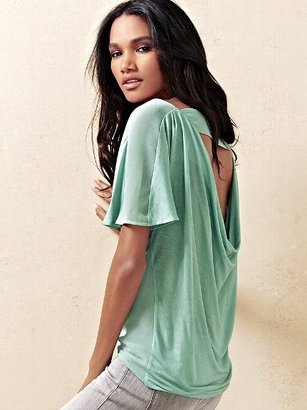 Victoria's Secret Open-back Cowlneck Tee