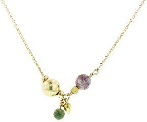 Jane Hollinger Charm 7 Necklace with Jasper - Gold Filled