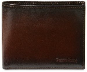 Perry Ellis Portfolio Men's Leather Michigan Slim Ombre Bifold Wallet