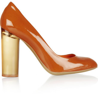 Stella McCartney Perspex and faux patent-leather pumps