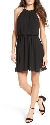 Women's Lush Blouson Chiffon Skater Dress $46 thestylecure.com