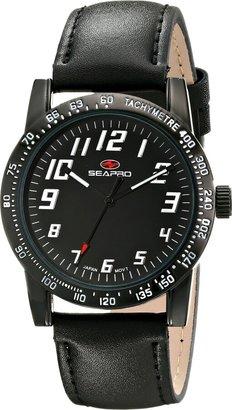 Seapro Women's SP5214 Bold Analog Display Quartz Black Watch