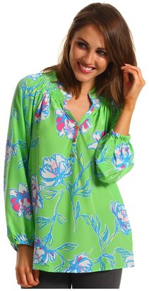 Lilly Pulitzer Elsa Top (New Green Tossed) - Apparel