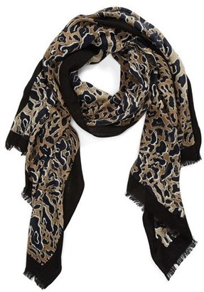 Tory Burch Leopard Print Scarf