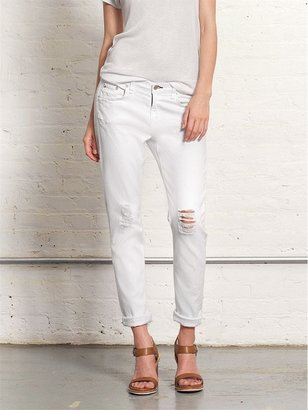 Rag and Bone RAG & BONE Dash Slouchy Skinny Jean In Tattered White