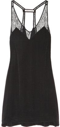 Maje Cap lace-trimmed crepe dress