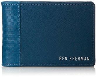 Ben Sherman Men's Gingham Emboss Cardfold Wallet