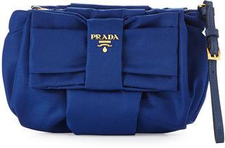 Prada Tessuto Bow Wristlet, Blue (Bluette)