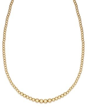 Signature Gold Graduated Bead Necklace in 14k Gold over Resin