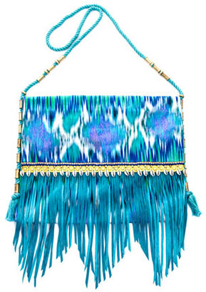 Matthew Williamson Snake-faze embellished beach bag