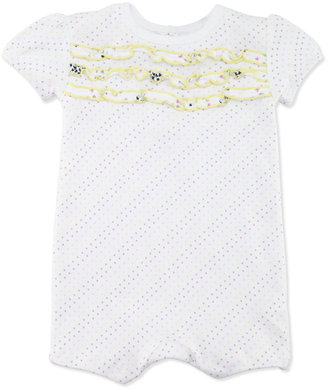 Petit Lem Dot-Print Short-Sleeve Playsuit, 3-9 Months
