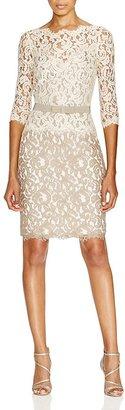 Tadashi Shoji Dress - Three Quarter Sleeve Illusion Neck Lace $328 thestylecure.com