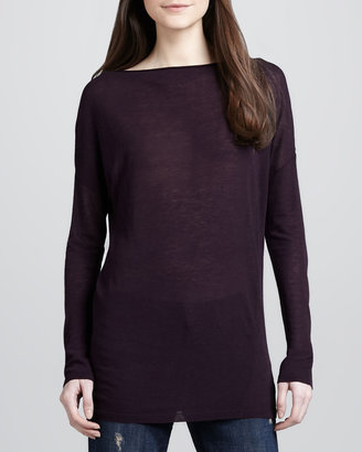 Vince Slub-Knit Long Sweater