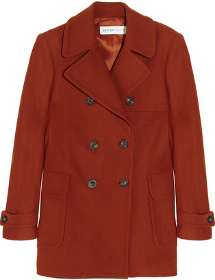 See by Chloe Double-breasted wool-blend peacoat