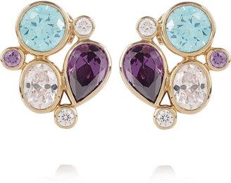 Isharya 18-karat gold-plated multistone earrings