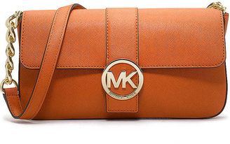 MICHAEL Michael Kors Fulton Saffiano Leather Small Flap Purse